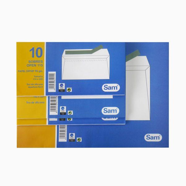 Pack de 10 envelopes com tira de silicone