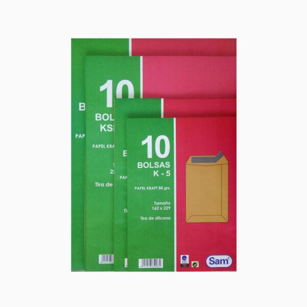 Pack de 10 bolsas com tira de silicone Sam