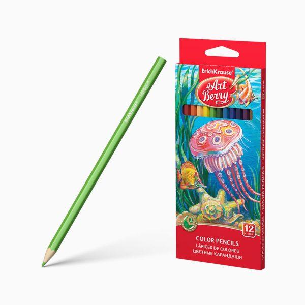 Lápis de cor hexagonal ErichKrause
