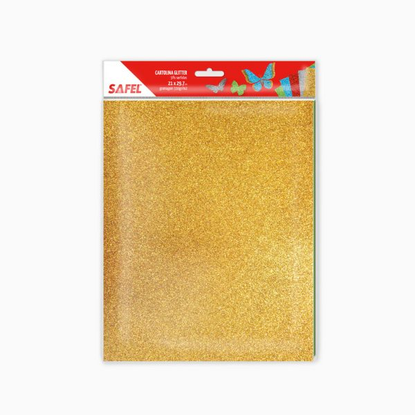 Cartolina Safel - cores sortidas, glitter