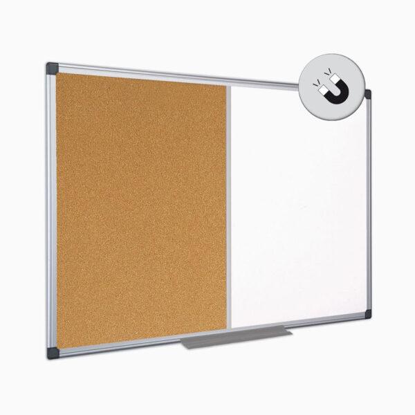Quadro de cortiça / branco com moldura em alumínio Bi-Office
