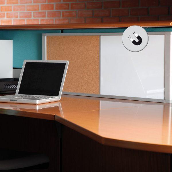 Quadro de cortiça / branco com moldura em alumínio lacado Bi-Office