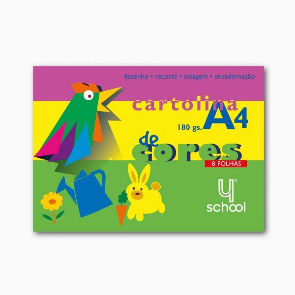 Bloco de cartolina colorida 8 fls 4school