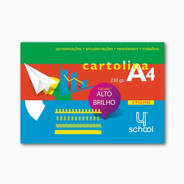 Bloco de cartolina alto brilho 4school