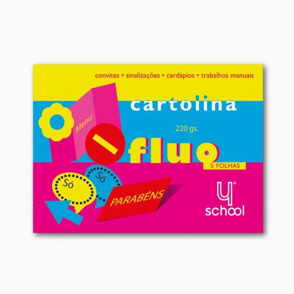Bloco de cartolina fluorescente 4school