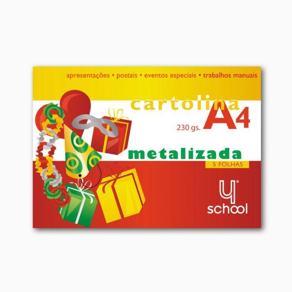 Bloco de cartolina metalizada 4school