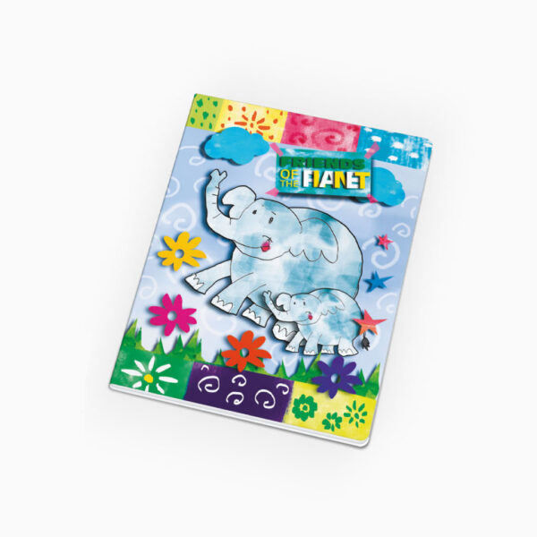 Caderno agrafado 2 linhas - Friends of the Planet
