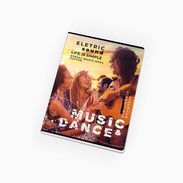 Caderno agrafado - Music & Dance