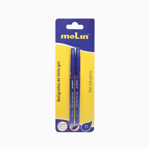 Esferográfica tinta gel metálica Molin