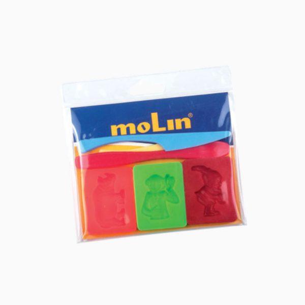 Kit de 3 moldes + 3 espátulas Molin