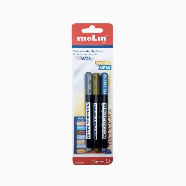 Marcador permanente de tinta metállica Molin Vision MT
