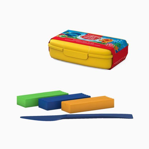Plasticina com aloe vera ErichKrause - caixa plástica