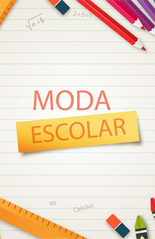 Banner campanha moda escolar